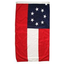 "CIVIL WAR 1ST NATIONAL CONFEDERATE 7 STAR FLAG   ""Stars and Bars"" 3 x 5 Feet CSA"