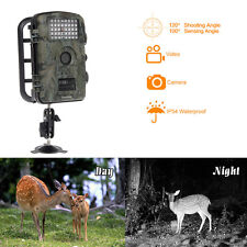 Caccia Fotocamera 12MP HD Infrarossi Scouting Trail IR LED Video PIR Sensore Neu