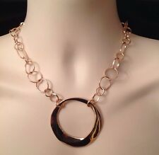 CHICO'S Signed 'Rose Pendant' Necklace-MSRP- $45-NWT