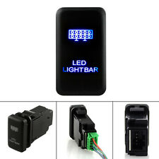 2 LED Blue LIGHT BAR FOG SPOT ON/OFF Plastic LASER ROCKER SWITCH DC 12V Black