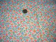 """Light Blue VIP Cotton With Blue And Pink Flowers And Butterflies 1 Yds by 44"""""""