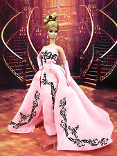 Evening Dress Outfit Clothes Candi Silkstone Barbie Fashion Royalty Pink Black