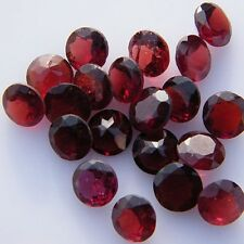 25 PCS AMAZING LOT NATURAL GARNET 3X3 MM ROUND SHAPE FACETED CUT LOOSE GEMSTONE