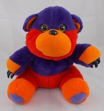 "Hasbro Reversible Bear Pet Monster Plush Sits 10"" Vintage"