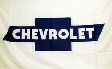CHEVROLET (WHITE AND BLUE) LOGO DEALER BANNER FLAG SIGN