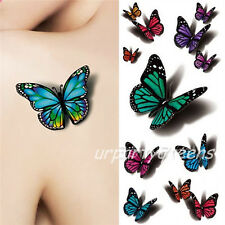 Waterproof Temporary 3D Colorful Flying Butterfly Tattoo Stickers Body Art Decal
