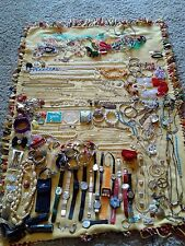 Jewelry Lot Watches Neclaces Bracelets Rings Earrings Name Brands Junk Drawer