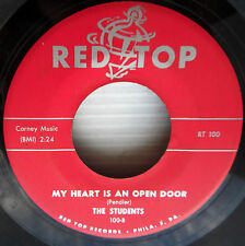 STUDENTS doowop 45 MY HEART IS AN OPEN DOOR / MOMMY & DADDY red label VG+ e9549