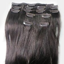 """Lot 15""""-36"""" Clip In Remy Real Human Hair Extensions Straight Any Color 5g-140g"""