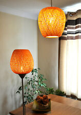 Handmade Rattan Lampshade, Pendant Or Table Shade, Apple Shape, Brown, L002