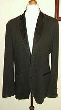 DOLCE & GABBANA SPORT COAT BLAZER Black (Pinstriped ) Size italy 52 uk 42