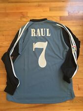 #7 Raul Real Madrid 3rd 2001-02 Adidas soccer jersey football shirt XL L/S