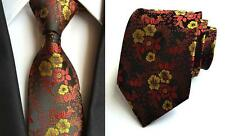 Black, Red and Yellow Patterned Handmade 100% Silk Tie