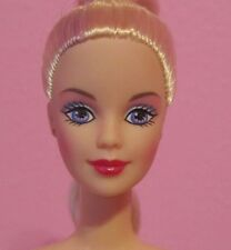 Gorgeous COLLECTOR Mackie Face Barbie Doll, Blonde & Purple Hair Nude OOAK EUC