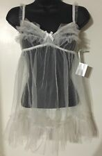 NWT Victoria's Secret I DO Babydoll Thong Veil Bridal Wedding 4 pc Set SZ M L