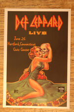 Def Leppard Concert Tour Poster 1983 Hartford Connecticut Civic Center