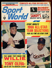 August 1966 Sportsworld Magazine With Willie Mays Front Cover VGEX