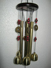 FENG SHUI BRASS METAL & WOODEN WINDCHIME 4 POSITIVE ENERGY IN YOUR HOME