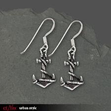 Silber Sterling Echt Et Nox Silberohrringe Ohrringe Anker Anchor Rockabilly 4014