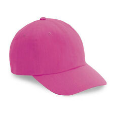 1 Dozen (12)  Neon Pink Baseball Hats - Adjustable- 100% Cotton - Fast Ship!