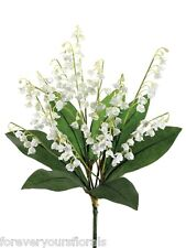 Artificial Lily of the Valley Bush White, Fake Lily of the Valley, 132 blooms