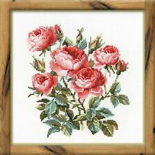 RIOLIS COUNTED CROSS STITCH KIT - GARDEN ROSES - R1046 - 40*40 cm