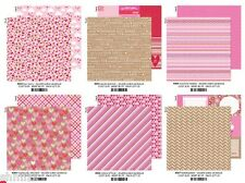 Doodlebug Design Sweetheart Collection 12x12  Scrapbooking paper lot 11 pieces