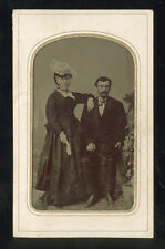 1860s Tintype Portrait Young Newly Married Couple, Handsomely Captured