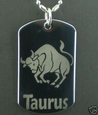 TAURUS  zodiac horoscope star  Dog Tag Pendant Necklace