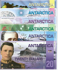 ANTARCTICA 6 Banknote Set World Money UNC Currency BILL Money Dollars FUN Notes