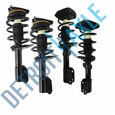 Both (4) Brand New Front & Rear Complete Assembled Strut Spring Coil & Mounts