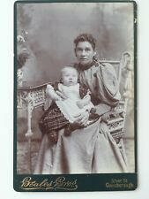 Large CDV Cabinet Photo - Beales Bros - Gainsborough - Lady & Child