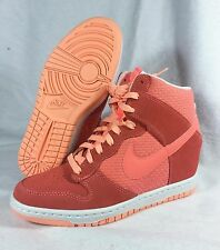 New Nike Dunk Sky Hi Essential  Sz 7 WMN 38 Wedge Pink City Liberty Cut Out Lava