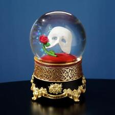 Phantom of the Opera MASK & ROSE 100mm WATER GLOBE San Francisco Music Box