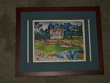 1990 Masters 15th Hole Leaderboard W/Advertising? Framed Image by Leroy Neiman