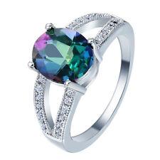 Nice  Women Jewelry Opal  Gemstone 925 sterling silver Ring Size9 M529