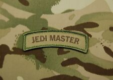 JEDI MASTER Tab Tactical USA Army US Military Multicam Morale Patch Hook Backing