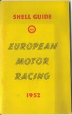 Shell Guide to European Motor Racing 1952 Grand Prix Le Mans Tourist Trophy +