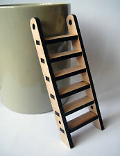 Miniature ladder skirting board size. Small MDF ladder craft embellishment wood