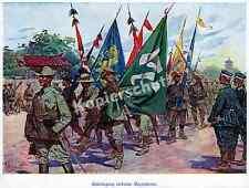 O. Gerlach China Schutztruppe 1.OIR Parade Boxeraufstand Beutefahnen Peking 1900