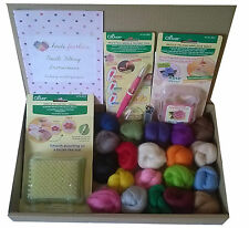 Clover Tools Needle Felting Kit D -small mat, pen style tool, mold, wool, needle