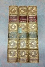 c1800s French Revolution a History by THOMAS CARLYLE 3 Vol SET John Winston Co.
