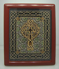 CELTIC CROSS THEME RED COLOR SMALL WALLET / CIGARETTE CASE Design-01