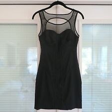 *NEW* FACTORY Erik Hart $124 Bustier Mesh Bodycon Fitted Mini Dress. 2 XS NWT