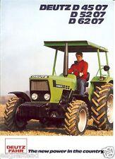 Farm Tractor Brochure - Deutz Fahr - D 4507 5207 6207 - 1980 (F2380)
