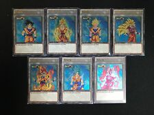 Dragon Ball Super Complete Set of Goku Tokens Custom Ultra Rare Yugioh Token