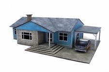 Retro Americana Residential Ranch Style House – Car Port RHS 28mm Laser Cut M...