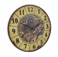 Steampunk Gear Art Wall Clock Rustic Vintage Style Victorian Home Bar Decor New