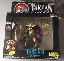 1995#The Epic Adventures Of Tarzan Dino Armored Action Figure#Trendmasters Nib