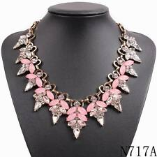 new gold chain necklace collar bib crystal pendants choker statement necklace